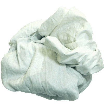 ALL WHITE 100% COTTON RAGS 25 LB