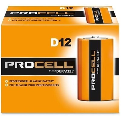 PROCELL D CELL BATTERY 12/PK
